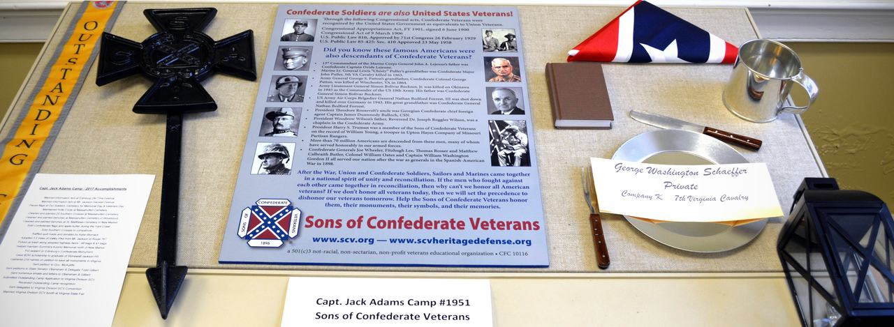Sons of Confederate Veterans Exhibit